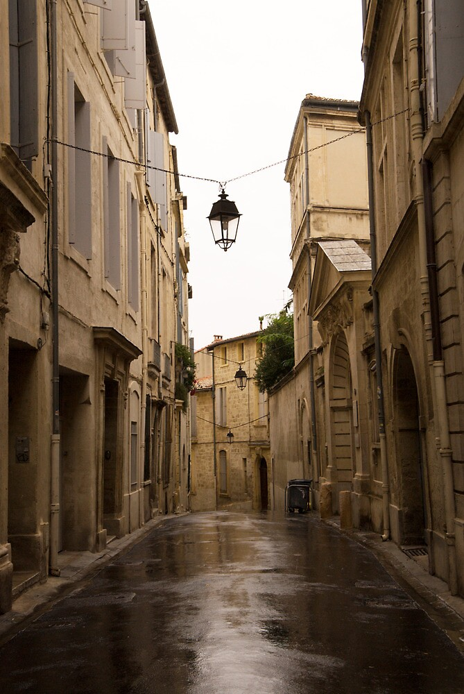 Old Street on a rainy day, Montpellier, France. by Skye Hohmann