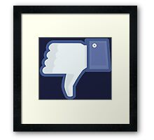 DISLIKE / LIKE Framed Print