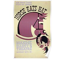 WPA United States Government Work Project Administration Poster 0321 Horse Eats Hat Maxine Elliott's Theatre Poster