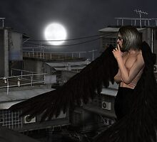 Male Urban Guardian Angel, Standing by algoldesigns