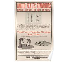 United States Department of Agriculture Poster 0247 Standards Require Dockage for Smut on Wheat Poster