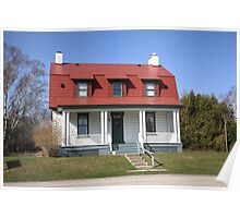 Keeper's House - Presque Isle Light, Michigan Poster
