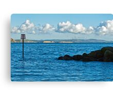 Winter Blues ~ Lyme Regis Canvas Print