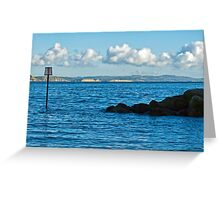 Winter Blues ~ Lyme Regis Greeting Card