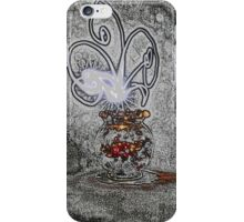 Vase with light flower iPhone Case/Skin