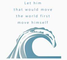 Move himself - wave  by CharityDawnArt