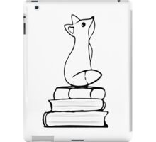 Fox on Books - With pages iPad Case/Skin