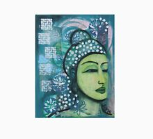 A calm tranquil Buddha in harmonious green, painting and mixed media T-Shirt