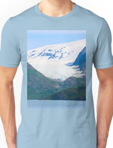 Snowy Mountains by the Water Unisex T-Shirt