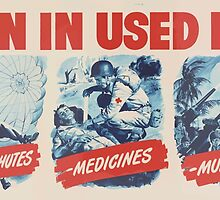 United States Department of Agriculture Poster 0136 Turn in Used Fats for Parachutes Medicines Munitions by wetdryvac