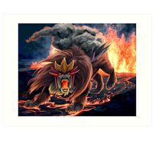 Roar of Entei Art Print