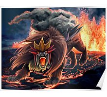 Roar of Entei Poster