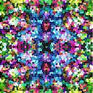 Colorful Abstract Mosaic Tiles Pattern by artonwear