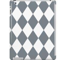 Cool Grey and White Diamonds iPad Case/Skin
