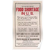 United States Department of Agriculture Poster 0069 Food Shortage Poster