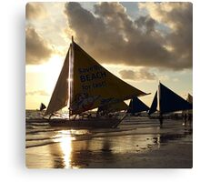 Sunset Sail in Boracay Canvas Print