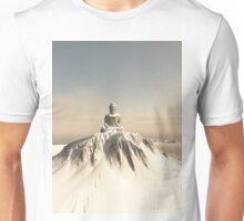 Snow Covered Mountain Buddha Unisex T-Shirt