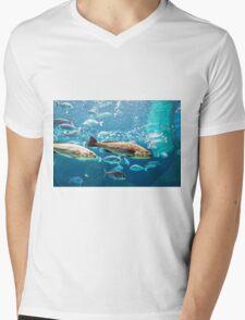 Big silver fishes Mens V-Neck T-Shirt
