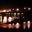 Barnstaple Bridge at night by Rob Hawkins