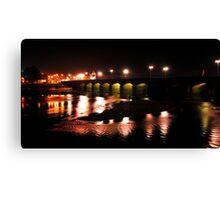 Barnstaple Bridge at night Canvas Print