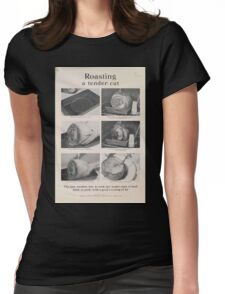 United States Department of Agriculture Poster 0301 Roasting a Tender Cut Womens Fitted T-Shirt