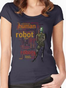 Human Robot Women's Fitted Scoop T-Shirt