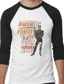 Human Robot Men's Baseball ¾ T-Shirt