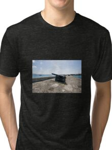 Cannons Along North Wall - Lyme Regis Tri-blend T-Shirt