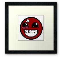 Smiley ball - Super Meat Boy Framed Print