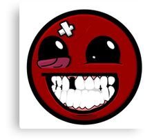 Smiley ball - Super Meat Boy Canvas Print