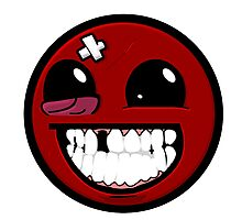 Smiley ball - Super Meat Boy Photographic Print