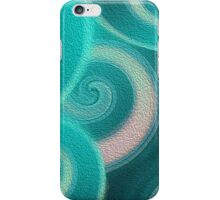 Abstract Teal Ocean Waves iPhone Case/Skin