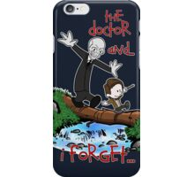 Calvin and Hobbes Doctor iPhone Case/Skin