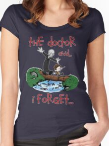Calvin and Hobbes Doctor Women's Fitted Scoop T-Shirt