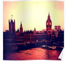 Big Ben and Parliament from the London Eye Poster