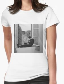 Chet Baker painting Womens Fitted T-Shirt