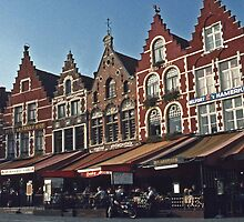 Town Square - Brugges, Belgium #2 by David J Dionne