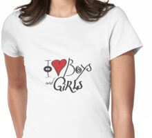 I Love Boys and Girls Womens Fitted T-Shirt
