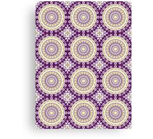 Purple & Yellow Kaleidoscope Pattern Design Canvas Print