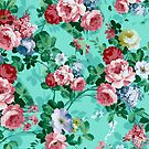 Colorful Roses Floral Collage by artonwear