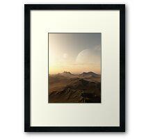 Planet Rise Framed Print