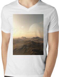 Planet Rise Mens V-Neck T-Shirt