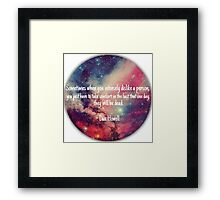Danisnotonfire 'Sometimes when you intensely dislike a person...' quote Framed Print