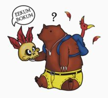 A Confused Bear and his Bird by Silver1Kunai