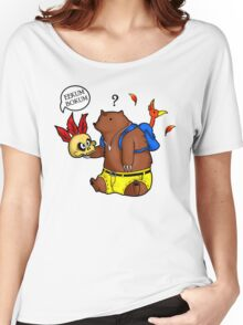 A Confused Bear and his Bird Women's Relaxed Fit T-Shirt