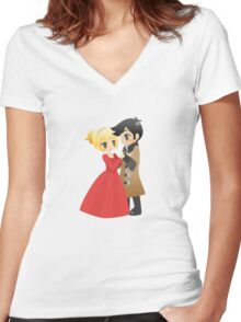OUAT - Captain Swan Formal Women's Fitted V-Neck T-Shirt