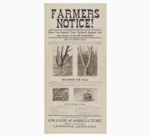 United States Department of Agriculture Poster 0075 Insured Orchard Against San Jose Scale Control One Piece - Long Sleeve