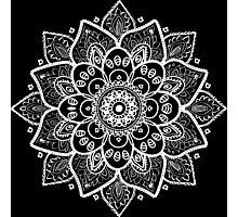 White Floral Lace Ornament Photographic Print