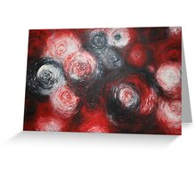 Red Rain Greeting Card