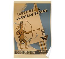 WPA United States Government Work Project Administration Poster 0869 Index of American Design Federal Art Gallery Poster